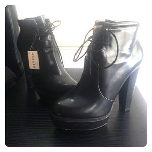 Forever 21 leather booties